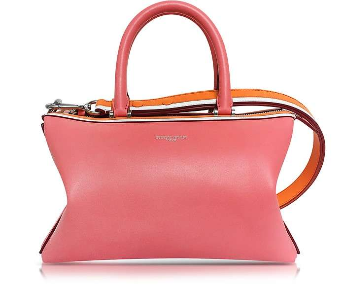 Emilio Pucci / エミリオ プッチ Pink Smooth Leather Satchel Bag - FORZIERI