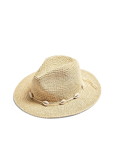 Topshop Natural Straw Cowboy Hat With Shells - 帽子 / レディース | YOOX(ユークス) - 46709591UA