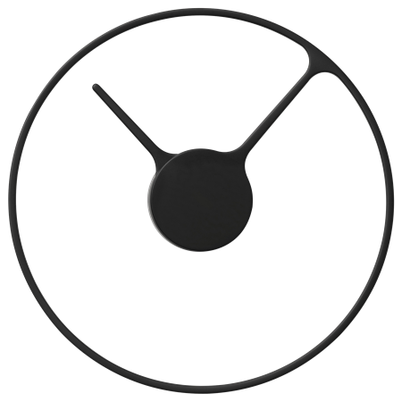 Stelton Time wall clock BLACK Large