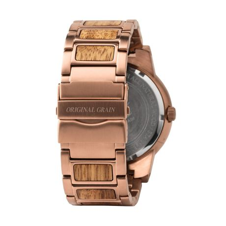 The Barrel - Rose Gold/Zebrawood | Original Gra...