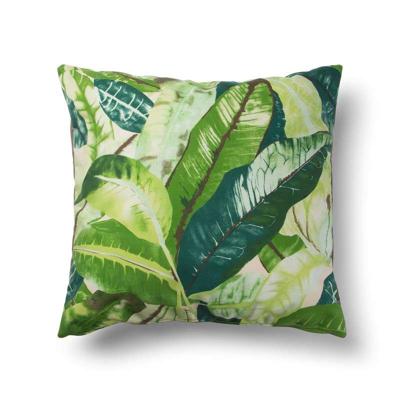 TROPICAL CUSHION 50X50 FABRIC MULTICOLOR GREEN BROWN | 商品カテゴリー,ホームテキスタイル | LaForma Japan