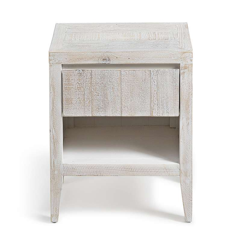 WOODY Bedside table 45x55 pine wood white wash | 商品カテゴリー,収納家具 | LaForma Japan